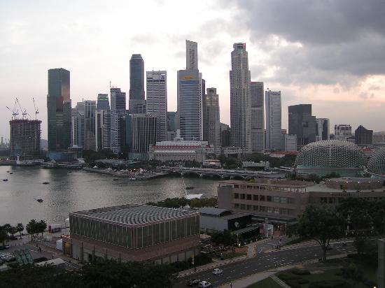Mandarin Oriental, Singapore: Blick vom Harbour-View Zimmer