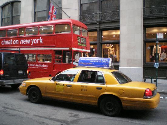 Ny Taxi And London Bus Picture Of New York City New