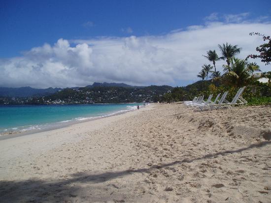 Spice Island Beach Resort : Beach View - empty as it often is