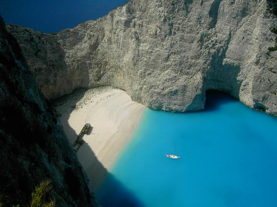 Zakynthos, Greece: The famous ship wreck