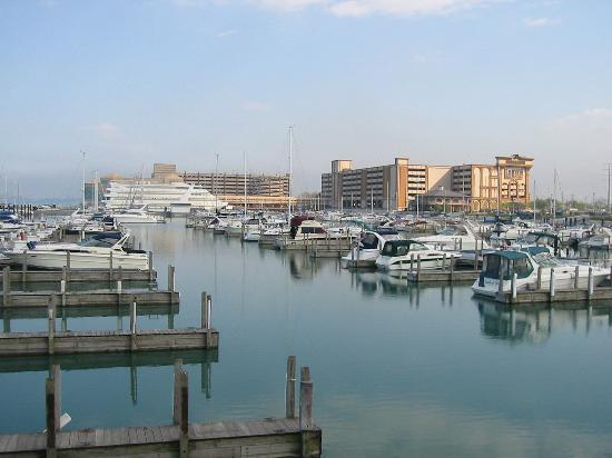 Horseshoe Hammond: Hammond marina with casino in background