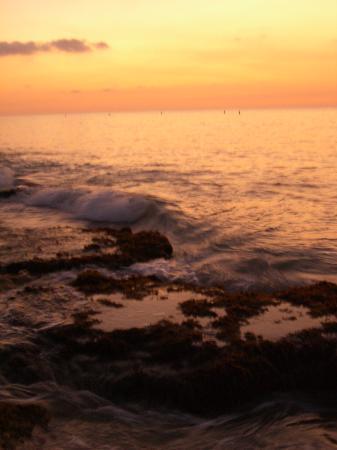 Sand Castle on the Beach: Sunset