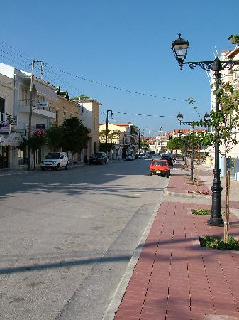 Cephalonia, Greece: The mian street which was quiet when we visited