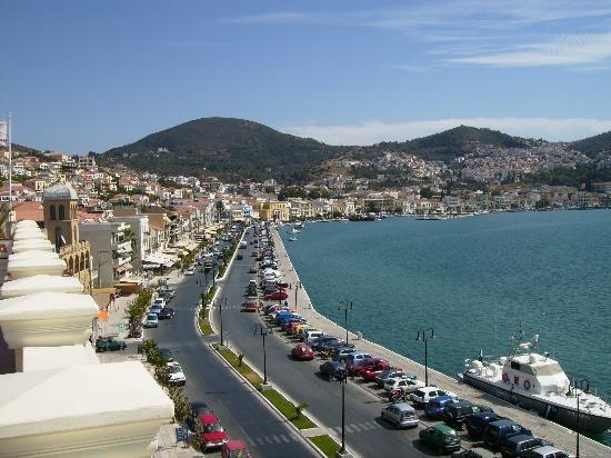 Samos Town, Grekland: view from room