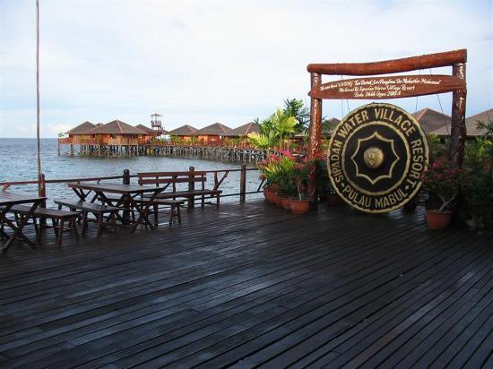 Sipadan Water Village: Outside reception area of SWV