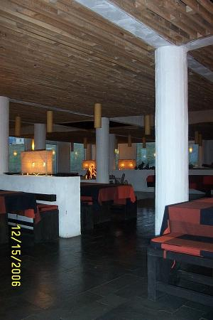 Remota: Open fireplaces all through the hotel