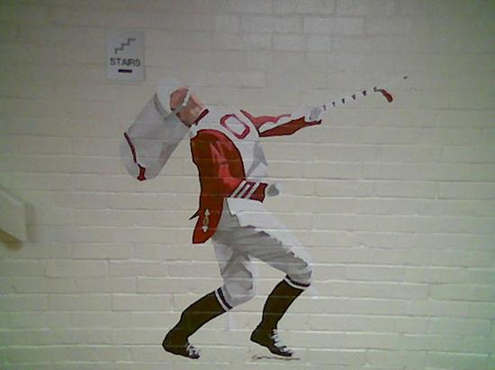 Sooner Legends Inn & Suites: one of the wall murals