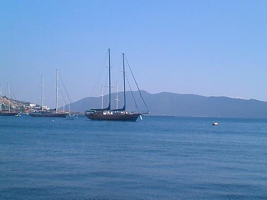 Castle of St. Peter : view from one of the many restaurants that line the coast in bodrum by St Peters Castle