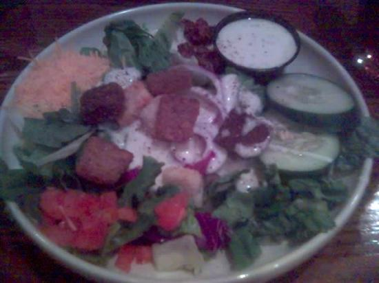 Alamo Steakhouse: The salad it took forever to get.