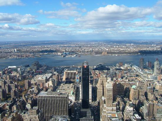 New York by, NY: View From Empire State Building