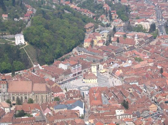 Panorama on the Old City of Brasov