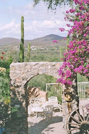 El Fuerte, Meksiko: patio del hotel