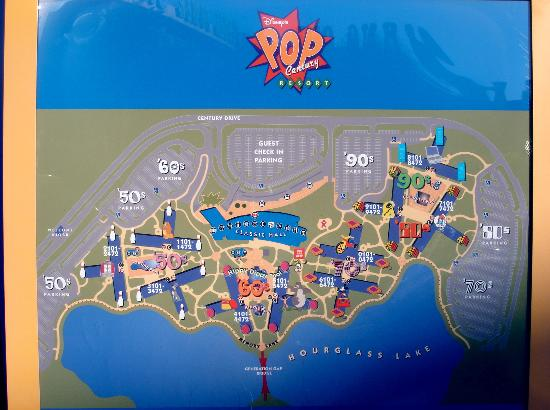 Map of Pop Century - Picture of Disney\'s Pop Century Resort ...