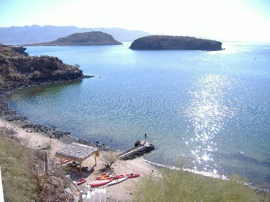 Mulege, Meksyk: View of Beach from Above