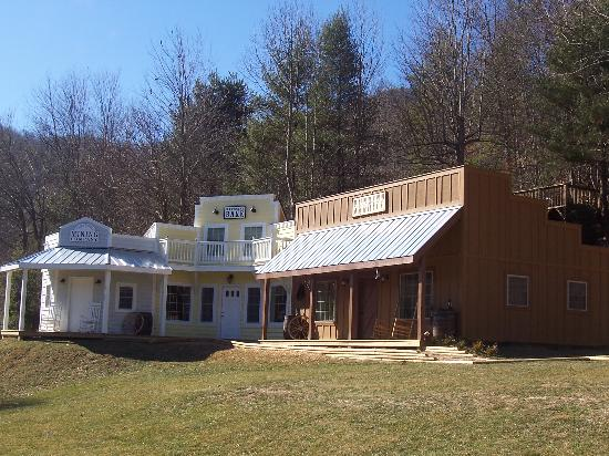 Valle Crucis Bed & Breakfast : Exterior of mining cabins we stayed in