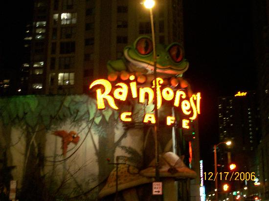 Best Western River North Hotel: Rainforest Cafe-Across the street