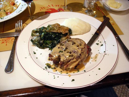 Trattoria Dopo Teatro : Panchetta wrapped filet peppercorn sauce was superb