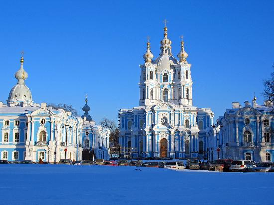 St. Petersburg, Russia: smolnii cathedral