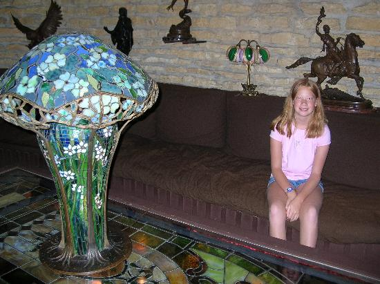 Tiffany lamp house on the rock