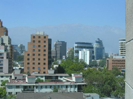 NH Collection Plaza Santiago: View of office towers and the Andes from the room