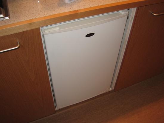 Quest on Johnston: Enclosed fridge.