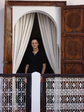 Riad de l'Orientale : standing in the doorway to our room