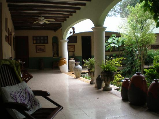 Casa Quetzal: Hall et jardin