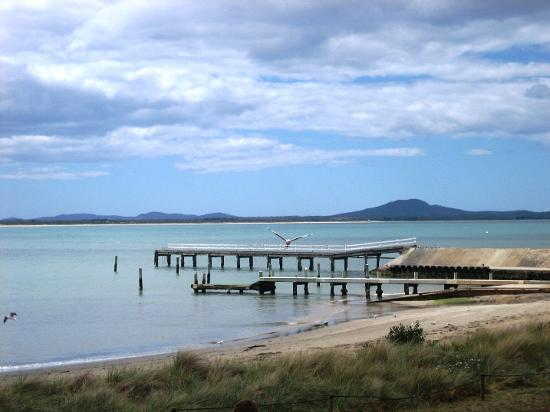 Coles Bay, Australia: Driving from Hobart, this is a rest stop at Swansea pier