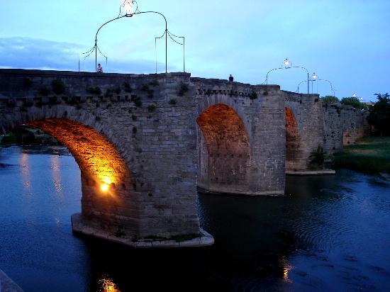 Ibis Carcassonne Centre: Vista de Le Pont Vieux al atardecer