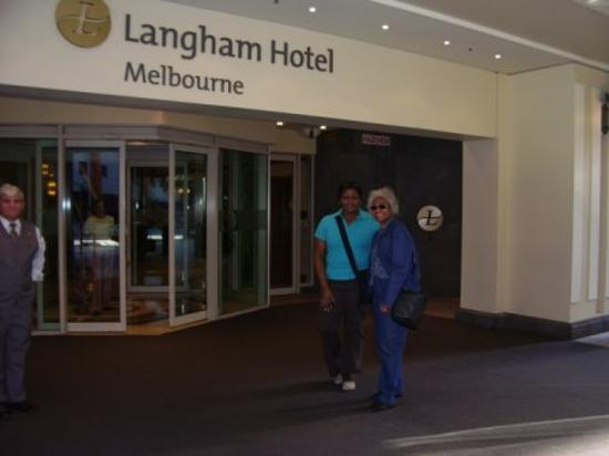 The Langham: Front entrance of the hotel