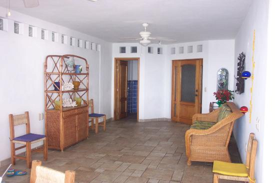 Playa Conchas Chinas Hotel: Immediately when you walk in...