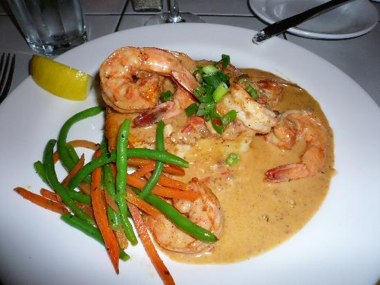 Low Country Shrimp and Grits at the Tupelo Grille in Whitefish...SO YUMMY!