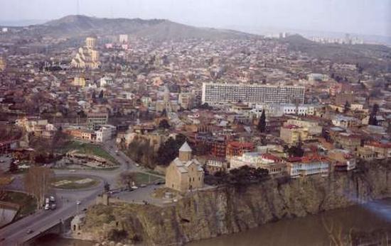 Géorgie : Freedom Sqare in Tbilisi