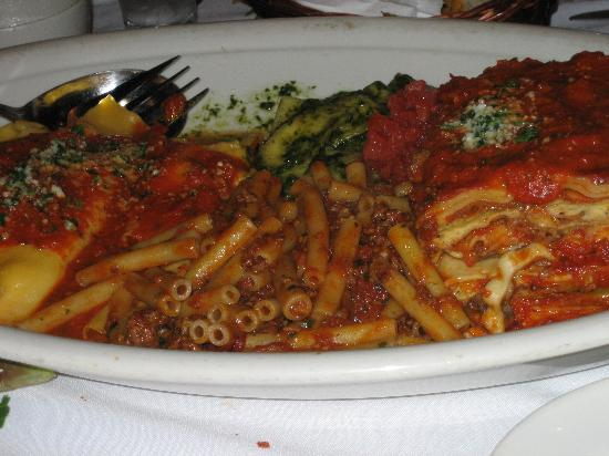 Carmine's at the Seaport : variety plate...after we dug in