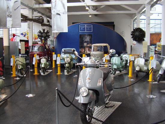 Piaggio Museum: Disply including APE Trucks