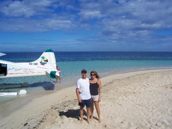 Castaway Island Fiji: arriving via seaplane