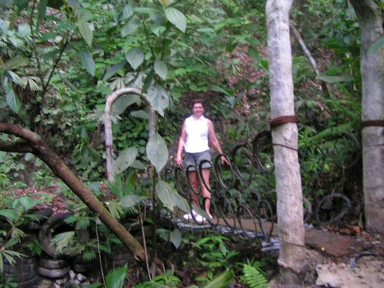 Hotel Casitas Eclipse: Nature trail behind casitas. Bridges ,trails and sculptures.