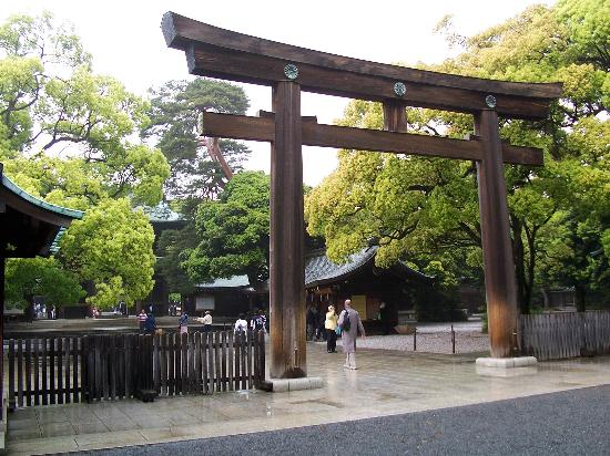 Meiji-Schrein (Meiji-jingū): Meiji Shrine entrance.
