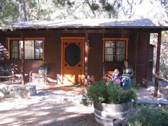 Attrayant Santa Rita Lodge: Front Of Cabin, With Swing (porch In Back, Too