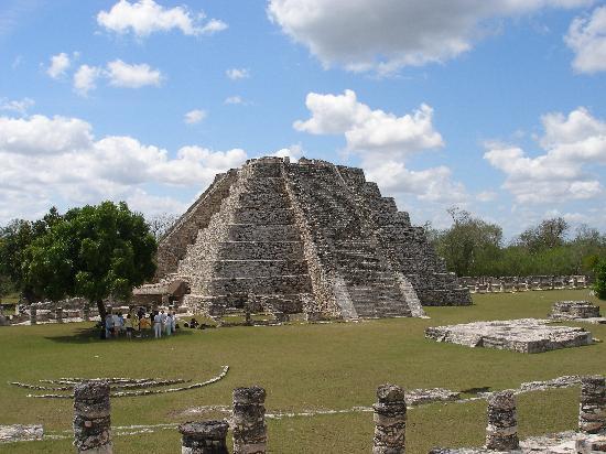 Mayapan Mayan Ruins : Pyramid at Mayapan