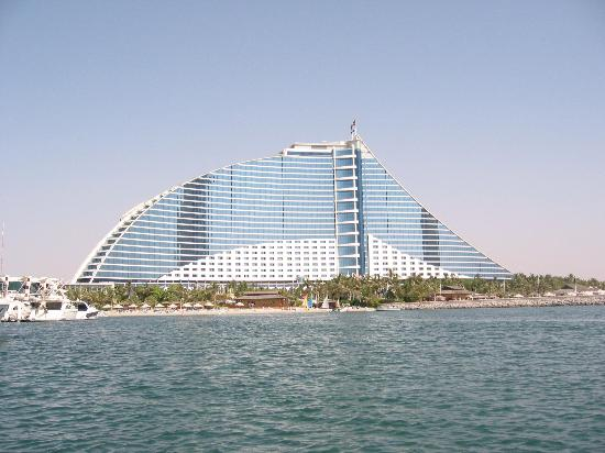 View of jbh from a boat on the marina picture of for Sailboat hotel dubai
