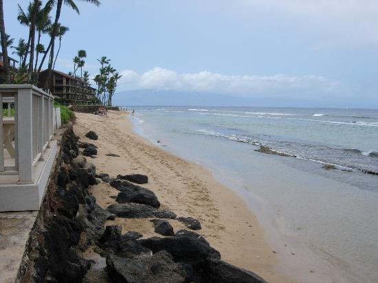 Maui Sands: View down the beach