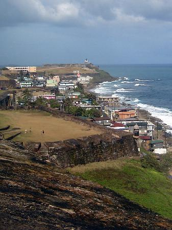 San Juan, Portorico: View of El Morro from San Cristobal Fort
