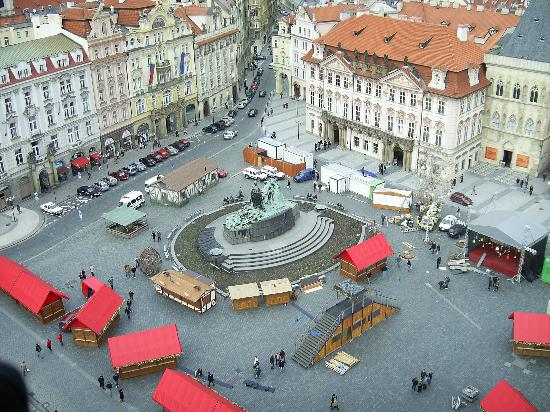 La Boutique Hotel Prague : town sq from tower