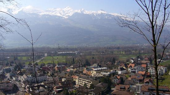 View of Vaduz from the Schloss