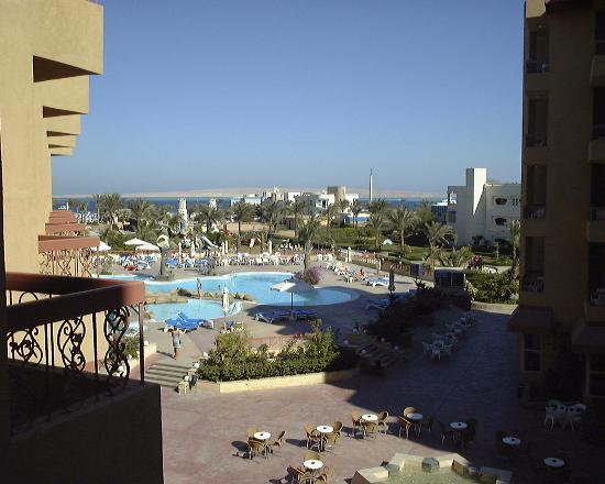 Hurghada SeaGull Beach Resort: View from hotel room.