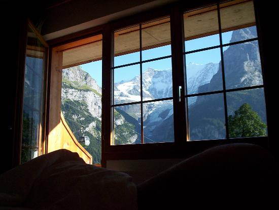 Hotel Bodmi: view from bed!