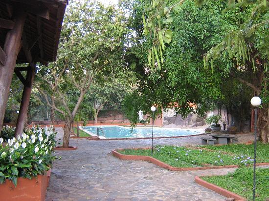 Damsan Hotel: Pool area with garden