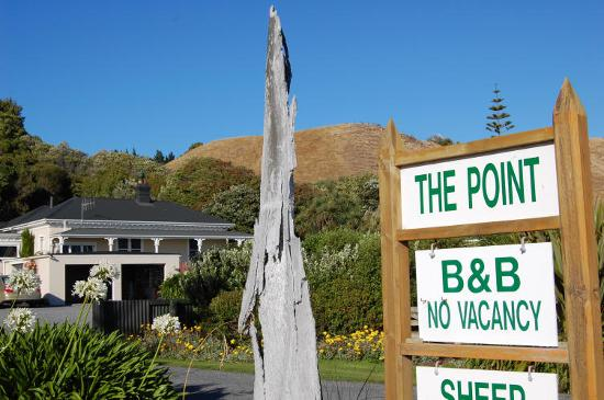 The Point Bed and Breakfast: The Point from the road.