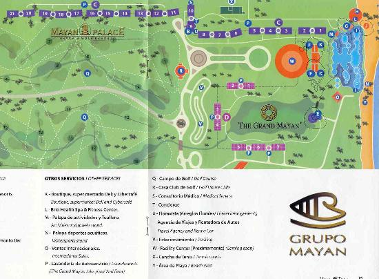 Map of Riviera Maya - Picture of Mayan Palace at Vidanta Riviera ...